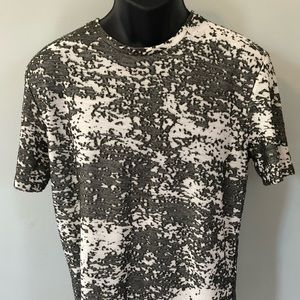 Zara Man Camo Tee Shirt Fall Harvest Autumn